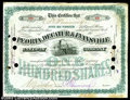 Stocks and Bonds:Certificates with Significant Autographs, Edward H. Harriman - Peoria, Decatur & Evansville Railway ...