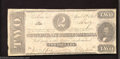 Confederate Notes:1863 Issues, 1863 $2 Judah P. Benjamin, T-61, Fine+. This 2nd Series $2 has ...
