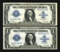 Fr. 238 $1 1923 Silver Certificates Two Examples Very Fine-Extremely Fine