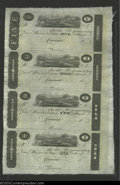 Obsoletes By State:Ohio, 18-- $1-$2-$3-$5 Uncut Sheet of Post Notes, Cincinnati, OH, CU....