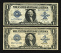Fr. 238 $1 1923 Silver Certificates Two Examples Very Good-Fine