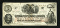 Confederate Notes:1862 Issues, T41 $100 1862 PF-7 Cr-317/27.. ...