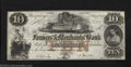 Obsoletes By State:Tennessee, 1854 $10 The Farmers & Merchants Bank of Memphis, TN, Choice ...