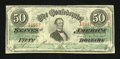 Confederate Notes:1863 Issues, T57 $50 1863 PF-3 State II Cr-408.. ...