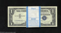 Small Size:Silver Certificates, Pack of 100 consecutive 1957A $1 Silver Certificates, Fr-1620, ... (100 notes)
