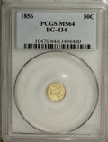 California Fractional Gold, 1856 50C Liberty Round 50 Cents, BG-434, Low R.4, MS64 PCGS....