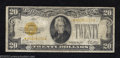 Small Size:Gold Certificates, 1928 $20 Gold Certificate, Fr-2402*, Fine. This is a rather ...