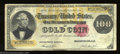 Large Size:Gold Certificates, 1882 $100 Gold Certificate, Fr-1214, Very Fine. This is a ...