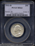 Washington Quarters: , 1932-D MS64 PCGS. The current Coin Dealer Newsletter (...