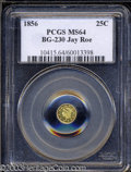 California Fractional Gold: , 1856 Liberty Round 25 Cents, BG-230, Low R.4, MS64 PCGS. ...