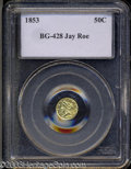 California Fractional Gold: , 1853 Liberty Round 50 Cents, BG-428, R.3, 0 PCGS. ...