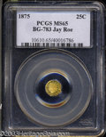 California Fractional Gold: , 1875 Indian Octagonal 25 Cents, BG-783, R.5, MS65 PCGS. ...