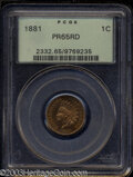 Proof Indian Cents: , 1881 PR 65 Red PCGS. The current Coin Dealer Newsletter (...