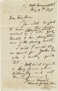 Autographs:Inventors, Alexander Graham Bell Autograph Letter Signed Announcing the Birthof His Daughter and His Intent to Perfect His Invention: Th...