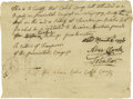 Autographs:Statesmen, Declaration Signers Abraham Clark and John Hart Document SignedConfirming Attendance to the Provincial Congress Manuscript ...