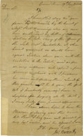 """Autographs:Military Figures, Scarce Letter Signed by Mohawk War Chief Joseph Brant LS """"Jos. Brant"""", 1 p., 7.75"""" x 12.5"""", Grand River (a Mohawk rese..."""