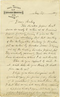 "Autographs:Celebrities, Phineas T. Barnum Autograph Letter Signed to His Partner JamesBailey A.L.S. ""P.T. Barnum"", 1 p., 6"" x 9.5"", [Franklin ...(Total: 2 )"