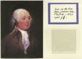 "Autographs:U.S. Presidents, Three Strands of Hair of John Adams mounted beneath a facsimilecopy of the provenance documenting the hair reading: ""hair o..."