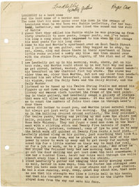 """Woody Guthrie Signed Typed Essay about Leadbelly on seven sides of four sheets of 8"""" x 10.5"""" off-white lined s..."""
