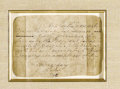 "Autographs:U.S. Presidents, George Washington Presidential Autograph Letter Signed in the ThirdPerson Autograph letter signed ""the President"" in th..."