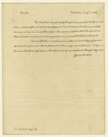 "Autographs:U.S. Presidents, James Madison Autograph Letter Signed A.L.S. ""James Madison"", 1p., 7.75"" x 10"", Montpellier, August 4, 1828 to a Mr. R. ..."