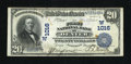 National Bank Notes:Colorado, Denver, CO - $20 1902 Date Back Fr. 642 The First NB Ch. # (W)1016.Engraved signatures of the bank's officers are seen ...