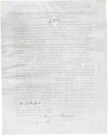 Autographs:Non-American, A Lock of Napoleon's Hair With 1868 Documentation. A substantiallock of Napoleon's hair is affixed to this fascinating 19th...