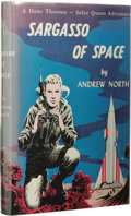 Books:First Editions, Andrew North [Andre Norton]: Sargasso of Space. (New York:Gnome Press, 1955), first edition (second state), 185 pages, ...