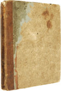 """Miscellaneous:Booklets, Early Burk Family of Vermont Notebook, 42 pp., 8vo (6.25"""" x 8""""),Woodstock, Vermont, ca. 1810s, heavy board covers with leat..."""
