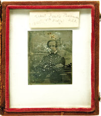 Rare Identified Mexican War Daguerreotype and Archive, pertaining to First Lieutenant Jenks Beaman of Rutland, Vermont...
