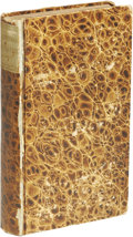 Books:First Editions, Three Bound 18th Century Imprints including Michael Lilienthal's De Machiavellismo Literario published in 1713, 184 page...
