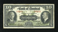 Canadian Currency: , Montreal, PQ- Bank of Montreal $10 Jan. 2, 1935 Ch. 505-60-04.. Theback shows some soiling. Fine....