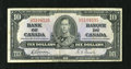 Canadian Currency: , BC-24b $10 1937.. This is an evenly circulated $10. Fine....