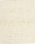 """Autographs:Celebrities, William Barclay """"Bat"""" Masterson Autograph Letter Signed, two pages,7.75"""" x 10.25"""", December 31, 1905, New York City, writte..."""