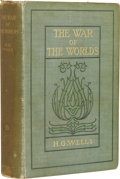 Books:First Editions, H.G. Wells: First American Edition of The War of the Worlds.(New York: Harper and Brothers Publishers, 1898), first Ame...