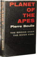 Books:First Editions, Pierre Boulle: First American Edition of Planet of the Apes.(New York: The Vanguard Press, Inc., 1963), first edition, ...