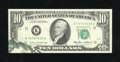 Error Notes:Foldovers, Fr. 2027-K $10 1985 Federal Reserve Note. Very Choice CrispUncirculated.. Unfortunately this foldover opened prior to the c...