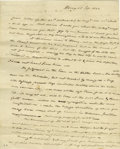 "Autographs:Statesmen, Aaron Burr Autograph Letter Signed Legal and personal content A.L.S. ""Aaron Burr"", 2pp., 7.75"" x 9.75"", Albany, Sep. 25,..."