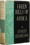 Books:First Editions, Ernest Hemingway: Green Hills of Africa. New York: CharlesScribner's Sons, 1935....
