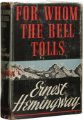 "Books:First Editions, Ernest Hemingway: For Whom the Bell Tolls. (New York:Charles Scribner's Sons, 1940), first edition, ""A"" on copyrightpa..."