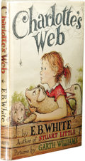 Books:First Editions, E. B. White: Charlotte's Web. (New York: Harper andBrothers, 1952), first edition (1-B), 184 pages, pictures by GarthW...