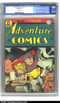 Adventure Comics #101 (DC, 1946) CGC VG/FN 5.0 Off-white pages. Simon and Kirby art. Overstreet 2003 VG 4.0 value = $192...