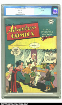 """Adventure Comics #105 """"D"""" Copy pedigree (DC, 1946) CGC NM- 9.2 Off-white pages. You might not ever see a bette..."""