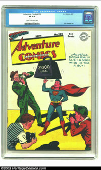 Adventure Comics #120 (DC, 1947) CGC VF 8.0 Cream to Off-white pages. Jack Burnley renders a cute and fun cover as Super...