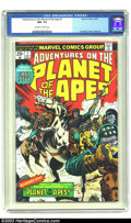 Bronze Age (1970-1979):Miscellaneous, Adventures on the Planet of the Apes #1 (Marvel, 1975) CGC NM- 9.2Off-white to white pages. Jim Starlin cover. Overstreet 2...