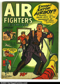 Air Fighters Comics Vol. 2 #4 (Hillman Fall, 1944) Condition: VG-. Airboy classic. Overstreet 2003 GD 2.0 value = $130...