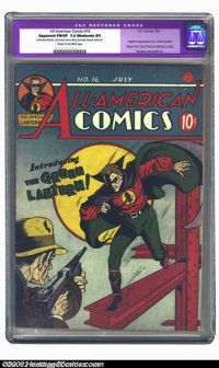 All-American Comics #16 (DC, 1940) CGC Apparent FN/VF 7.0 Moderate (P) Cream to off-white pages. The Green Lantern makes...