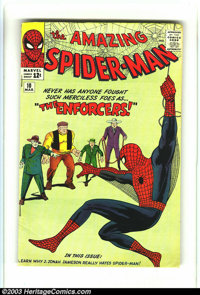 Amazing Spider-Man #10 (Marvel, 1964) Condition: VG/FN 5.0. First appearance of Big Man and the Enforcers. Overstreet 20...
