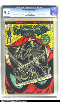 Amazing Spider-Man #113 (Marvel, 1972) NM 9.4 White pages. First appearance of Hammerhead. Overstreet 2003 NM 9.4 value...