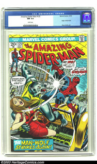 Amazing Spider-Man #125 (Marvel, 1973) CGC NM 9.4 White pages. Origin of Man-Wolf. Overstreet 2003 NM 9.4 value = $45...